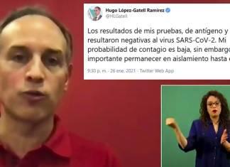 Da negativo también Hugo López-Gatell a pruebas covid-19; vuelve el viernes
