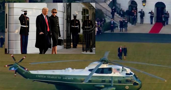 """Donald Trump se va de la Casa Blanca; """"nos volveremos a ver"""", asegura"""
