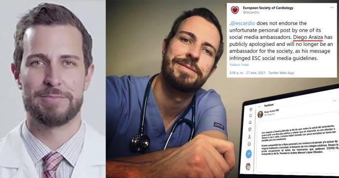 Expulsan a doctor que recomendó dañar la salud de AMLO de Sociedad Europea de Cardiología