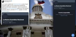 Ejerce Twitter injerencia en Venezuela; borra cuenta de nuevo Parlamento
