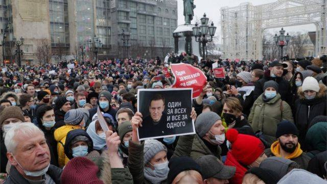 Detenciones masivas en Rusia por protestas contra Putin