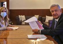 AMLO recibe a gobernadora de Sonora y presidenta de Conago, Claudia Pavlovich