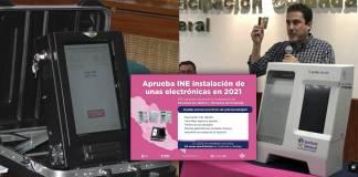 Consejo del INE aprueba otras 100 'urnas electrónicas' para 2021
