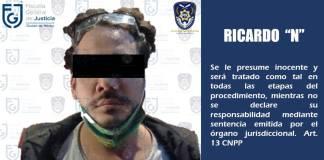 Rix fue detenido por tentativa de violación: FGJCDMX