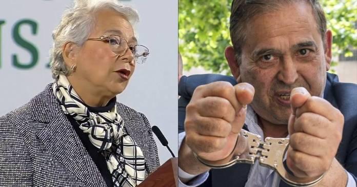 Que Ancira devuelva lo que no es suyo, pide Sánchez Cordero mientras vuelve a México