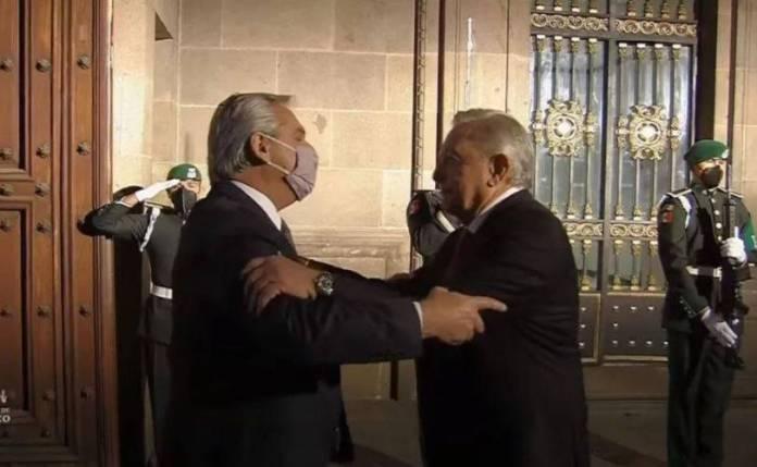 AMLO recibe en Palacio Nacional al presidente de Argentina