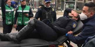 De acuerdo con la SSC-CDMX durante la manifestación por el Día Internacional de la Mujer resultaron heridas 15 policías y 4 civiles.