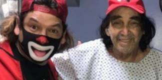 Cepillín reaparece tras cirugía de emergencia en la espalda