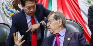 Muñoz Ledo acusa a Mario Delgado de impedir su reelección como diputado