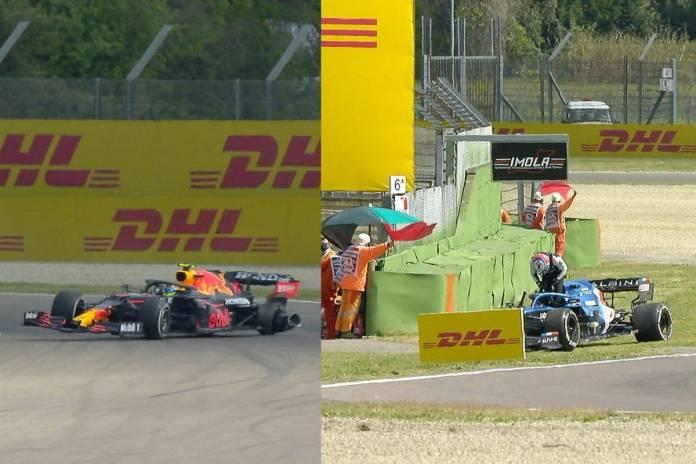 Checo Pérez protagoniza accidente en primera práctica del GP Emilia-Romaña