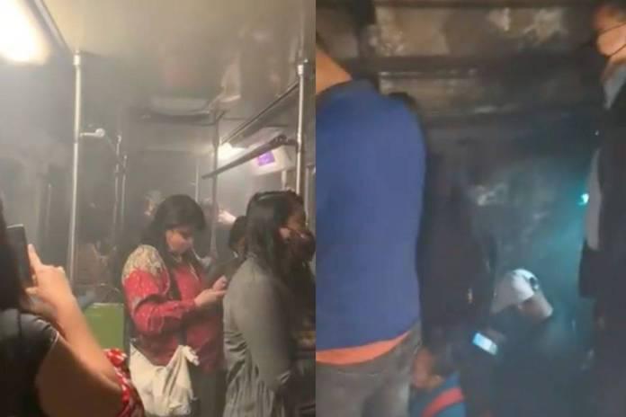 Usuarios del Metro viven momentos de angustia al caminar por vías tras falla en tren