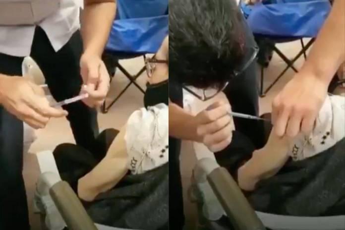 """""""Por error humano"""" vacunan a mujer de 95 años con jeringa vacía en Sonora"""