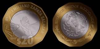 Así es como luce la nueva moneda de 20 pesos