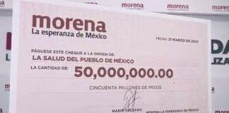 Morena regresa 50 mdp de prerrogativas para vacunas contra Covid-19
