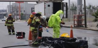 Se derraman más de 200 litros de ácido clorhídrico en Monterrey