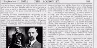 ¡No es la primera vez! The Economist favoreció golpe vs Madero y apoyó a Huerta