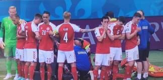 Christian Eriksen se desploma durante partido de la Eurocopa 2020