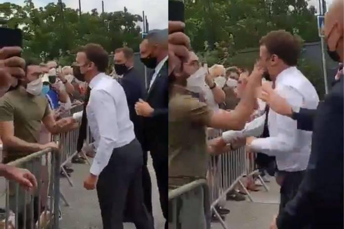 Macron es cacheteado por ciudadano