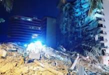 Video: Momento exacto del derrumbe del edificio de departamentos en Miami