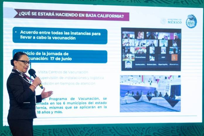 Adultos estarán vacunados en 10 días en Baja California