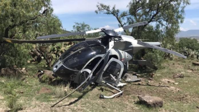 Helicóptero de la Fuerza Aérea realizo un aterrizaje forzoso