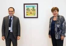 Arturo Herrera preside junta del Banco Mundial y se reúne con directora del FMI
