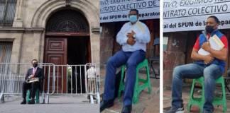 Así como Aureoles, profesores esperan afuera del Palacio de Gobierno de Michoacán