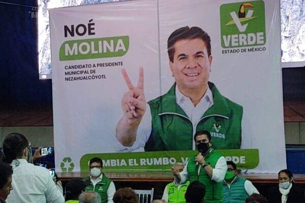 El excandidato del PVEM a la presidencia municipal de Nezahualcóyotl, Noé Molina fue vinculado a proceso por su relación con la Estafa Maestra.