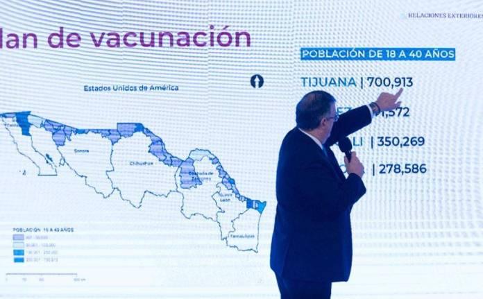 Vacuna donada por EU, para habitantes fronterizos de 18 a 40 años