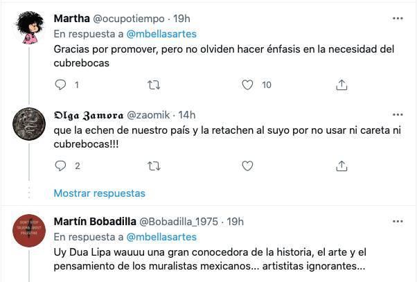 Captura de Pantalla 2021 07 20 a las 13.43.57 - Museo de Bellas Artes se promociona con visita de Dua Lipa; usuarios critican a la cantante de copiona