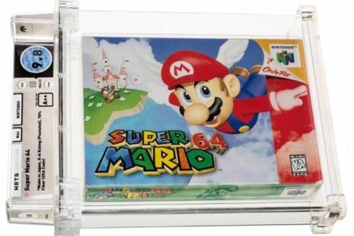 Cartucho de Super Mario 64 rompe récord al venderse en millones de pesos