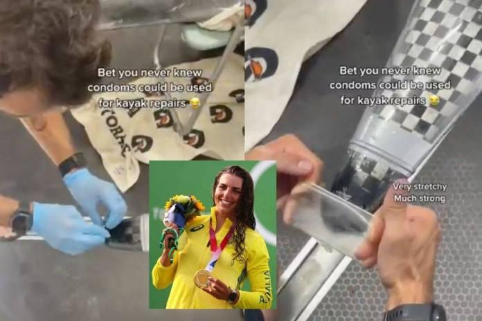 Atleta repara su kayac con un condón y gana medalla en Tokio 2020