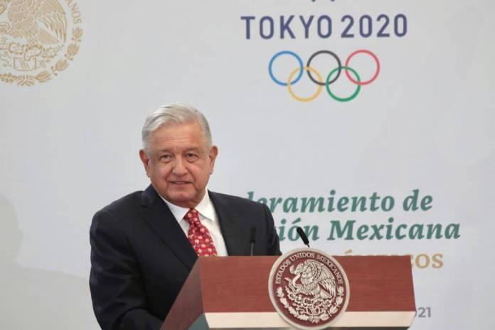 AMLO recompensará a la Delegación Mexicana que irá a Tokio