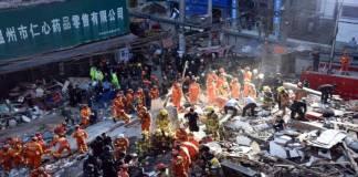 Se derrumba hotel en China; al menos un muerto y 10 desaparecidos