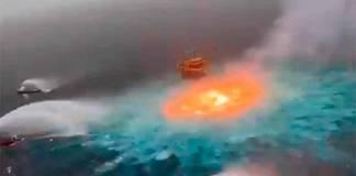 Explota gasoducto submarino de Pemex en el Golfo de México