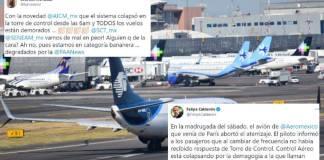 Falla internacional en Internet afecta vuelos en México; neoliberales culpan a AMLO