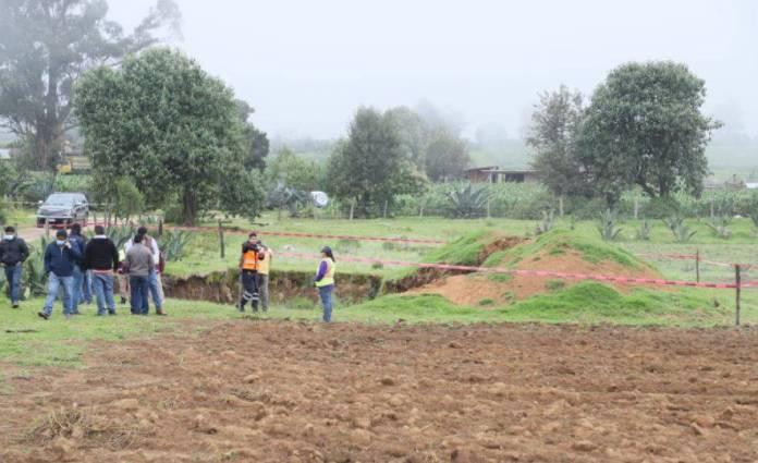 Denuncian la presencia de un nuevo socavón en Puebla