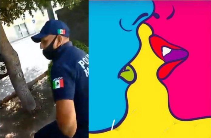 """Convocan a """"beso masivo"""" en Torreón por discriminación policial a pareja LGBTIQ+"""