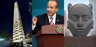 Calderón firma petición para que no quiten estatua de Colón; redes lo exhiben