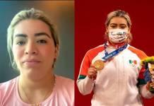 Medallista olímpica Aremi Fuentes denuncia que ld dieron un cheque de cartón