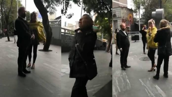 """Mujer llama """"rata de dos patas"""" a Gilberto Lozano, líder de Frena"""