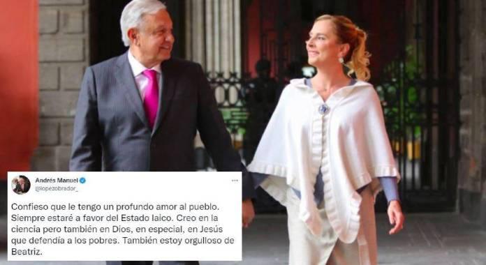 Ante las críticas contra Beatriz Gutiérrez, AMLO sale a su defensa