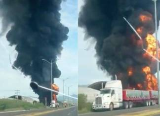 Video: Camión explota en carretera Salina Cruz-Tehuantepec, Oaxaca