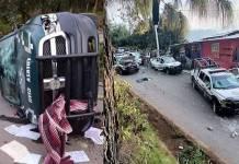 Dron derribado y patrullas destrozadas en Veracruz