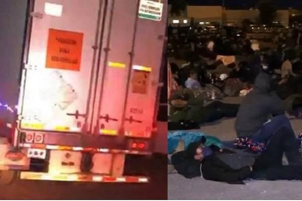 Migrantes en contenedores de refrigeración