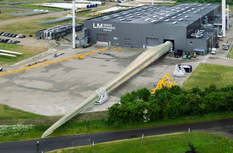 Das längste Windrad-Blatt der Welt