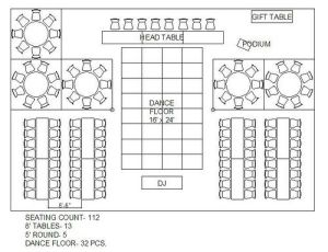 Floor / layout of event venue