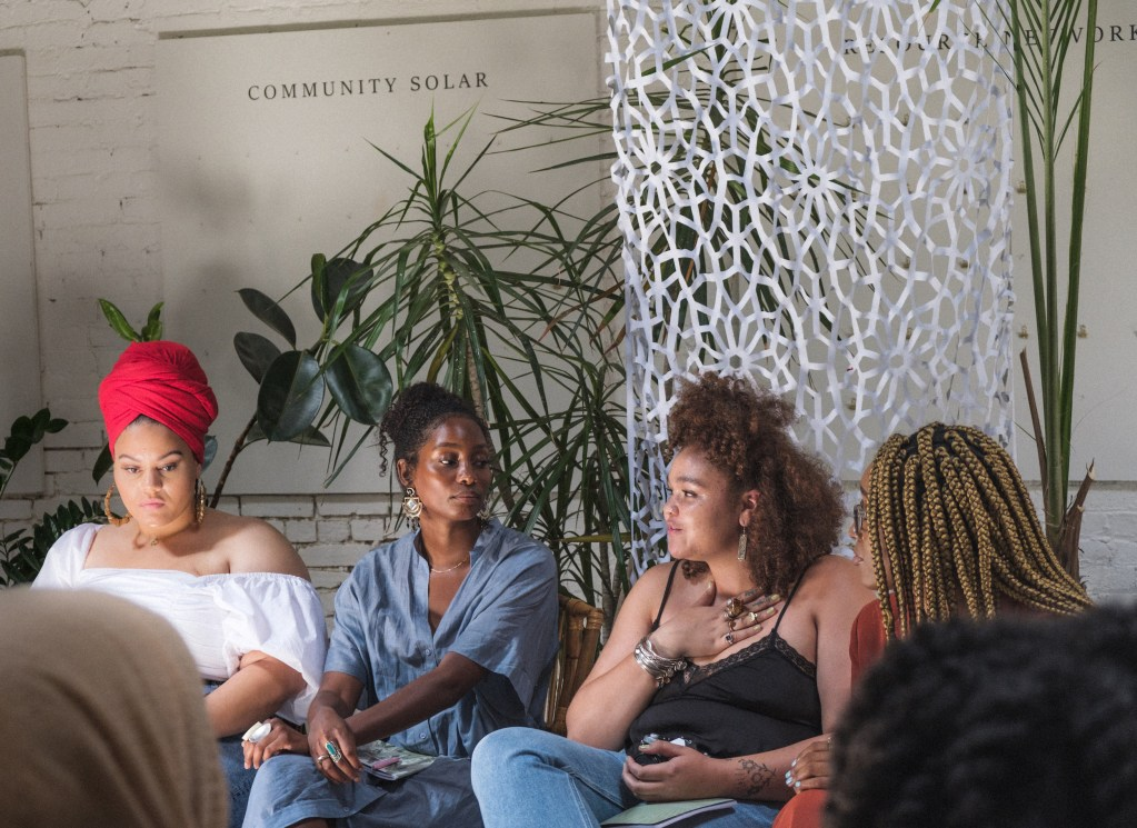 Women speak at the White Room of Regency Community and Event Venue