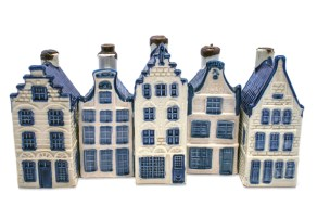 Delft Blue and White Houses