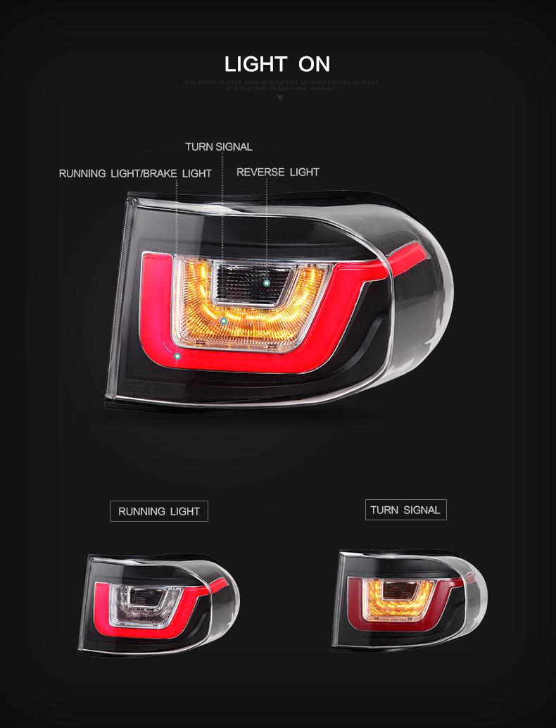 toyota fj cruiser headlight taillamp tail lamp light
